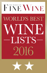 Wine List Award