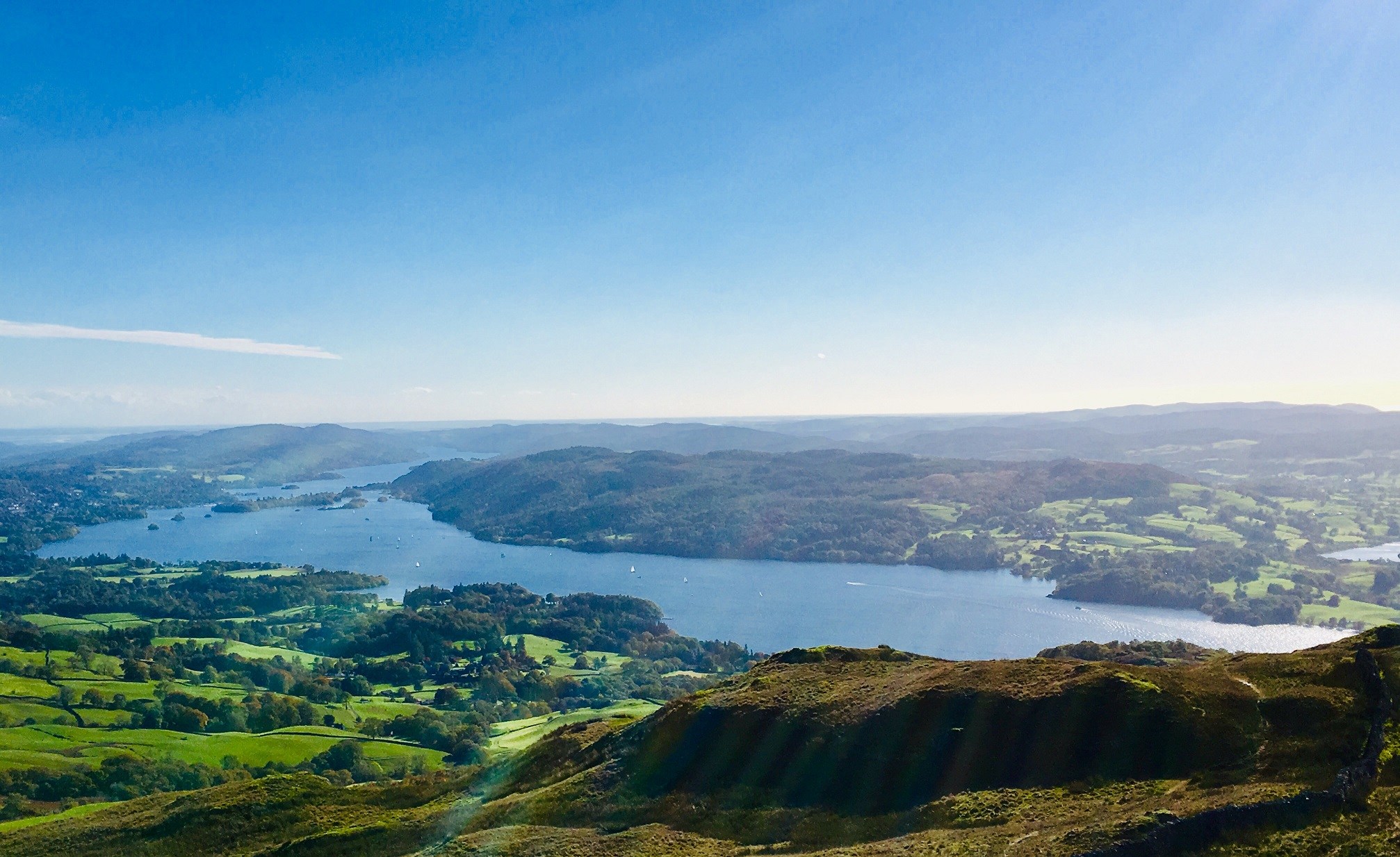 View onto Windermere